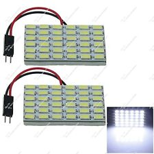 2X Auto 36 SMD 5630 LED Panel Interior Door Light With Festoon T10 Adapter ZJ211