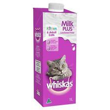 Whiskas Milk Plus Lactose Free Kitten & Cat Milk 8 x 1ltr bottles