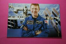 More details for major tim peake cmg (esa astronaut - british army - iss) signed photo paper