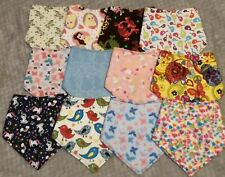 10 Handmade  bandana dribble bib, girl designs. wholesale/ joblot