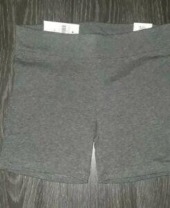 Girls justice yoga shorts size 8 new dark grey