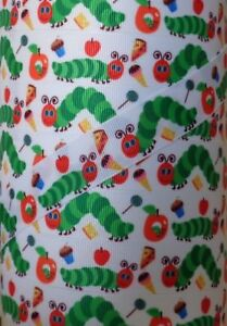 """5 Yds 7/8"""" VERY HUNGRY CATERPILLAR GROSGRAIN Ribbon 4 HAIRBOW BOW"""