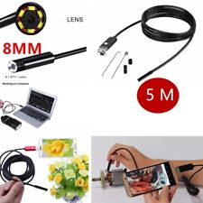 Hot ! Video Inspection Camera Endoscope 8 MM Android USB Borescope Spy Snake 5m