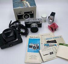 Vintage Minolta Hi-Matic 11 Super 3 Circuit 1.7 45mm Rangefinder Original Box