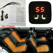 12V 2 Seats Universal Car Carbon Fiber Heated Seat Heater Kit 5-Level Switch