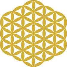 30 Custom Gold Flower of Life Personalized Address Labels