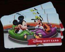 New 2016 Walt Disney World Mickey Goofy Bumper Cars Gift Card No Cash Value