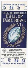 1982 Hall Of Fame Bowl Game Full Unused Ticket Air Force Vanderbilt