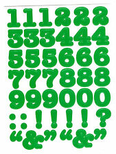 CREATIVE MEMORIES GREEN BOLD NUMBERS STICKERS BN & NLA