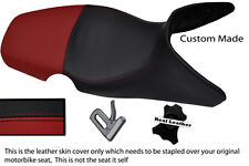 BURGUNDY & BLACK CUSTOM 01-07 FITS BMW F 650 GS REAL DUAL LEATHER SEAT COVER