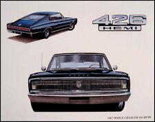 1967 Dodge Charger 426 Hemi Mopar Art Print Lithograph