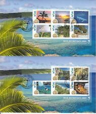Niue 2009 FDC Scenes Definitives SG#MS1049-50 11v Set 2v Sheets on 2 Covers
