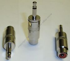 "Lot10 SHIELDED Mono 1/8""Male Jack~RCA Female Plug Audio/Video/RF Adapter,3.5mm{N"