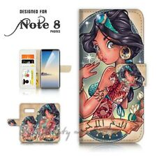 ( For Samsung Note 8 ) Wallet Case Cover P21563 Princess Jasmine