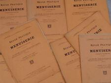 THÉZARD, LOT DE 9 REVUES PRATIQUE DE MENUISERIE 1932 1933 - INCOMPLET