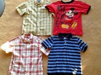 LOT 4 BOYS DISNEY STORE GYMBOREE SHORT-SLEEVE DRESS & CASUAL SHIRTS SZ 5 6 NICE!