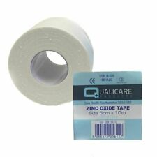 Qualicare Zinc Oxide Sports Tape - 1.25cm,2.5cm,5cm - 10 Meter Roll - Waterproof
