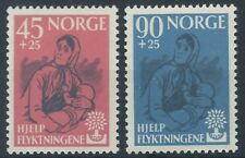 NORWAY 1960 SG499-500 World Refugee Year Set Mint MNH