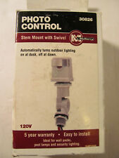 Photo Control with Adjustable Swivel Stem Mount. Mulberry 30826. NEW in Box.