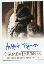 EL HTF Game of Thrones Complete series Autograph card of Hafpor Julfus Bjornsson
