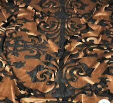 GOLD Fleur-De-Lis Wallpaper burnout 4 way stretch Velvet Draping, Appeal