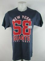 New York Giants NFL Hands High Men's Blue Short Sleeve Carl Banks T-Shirt