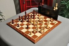"The Gilded Grandmaster Chess Set, Box, & Board Combination - 4.0"" King - Mahogan"