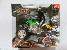 HOT CROSS COUNTRY MOTOR BIKE 4 WHEEL [WITH MUSIC & LIGHT] PULL BACK ACTION GREE