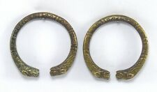 Sikh Brass Kada Bracelet G18-59 Us Lion Figurative Hand Kada Antique Collectible