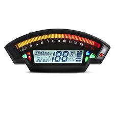 Universal Motorcycle Digital Lcd 1-6 Gear Odometer Speedometer Tachometer RA