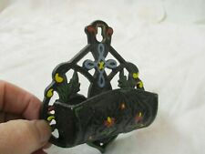 Vintage Wilton Wrightsville PA Wall Mt Cast Iron Match Holder