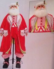 "Katherine's Collection Life Size 64"" Cuckoo Christmas Santa Claus Doll NEW"