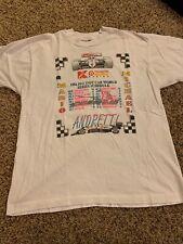 VINTAGE 1992 PPG Indy Car World Shirt XL MARIO ANDRETTI Series Car Rare WHITE