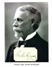 Russell A Alger Autograph Michigan Senator Governor Secretary of War Ohio #1