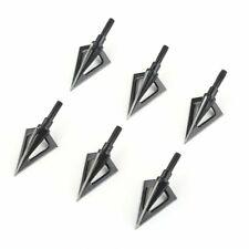 6Pcs 100 Grain Hunting Broad heads 3 Blade Archery Arrow Heads Practice Tips