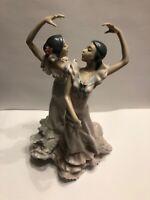 "Lladro Por Sevillanas ""Ole"" #5601 Girls Dancing-Porcelain Figurine"