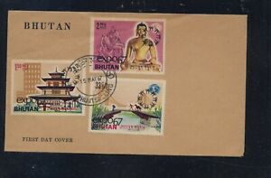 Bhutan  nice first  day  cover  1967