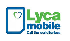 £10 Loaded Lyca-Mobile 3 in 1(Standard+Micro+Nano) Pay As You Go SIM Card.