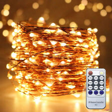 Remote Control Corded 20M 30M 50M Dimmable Copper Wire Holiday LED String Lights