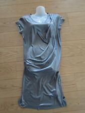 Calvin Klein elegantes Cocktail Kleid Gr. M silber grau glitzernd NEU