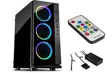 Gaming MidiTower PC Gehäuse USB 3.0  RGB  Led Lüfter