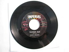 Ricky Nelson Travelin Man Imperial Records 45 rpm Record Vintage 1960