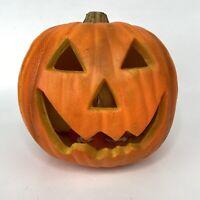 "REALISTIC Gemmy Halloween Lighted Pumpkin 8"" Jack O Lantern Foam Blow Mold WORKS"