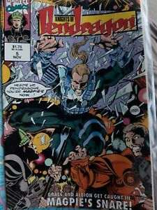 The Knights of Pendragon 2nd series #5 Nov 1992 Marvel Uk Comic  Overkill tales