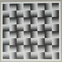 """Getulio ALVIANI - """"Testura grafica"""", 1971 - Serigrafia, 69 x 69 cm"""
