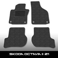 Fußmatten Skoda Octavia 2 Z1 (2004-2014) Anthrazit Autoteppiche nadelfilz 4t