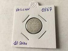 Vatican 10 Soldi en argent 1867 TTB