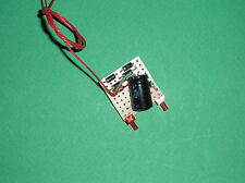 TRAIN. HO . FEUX FINS DE CONVOI . WAGON. EQUIPE 2 LEDS CANON ROUGE 2 mm.