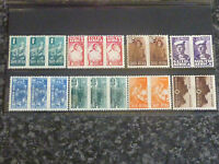 SOUTH AFRICA POSTAGE STAMPS SG97-104 1/2D-1/- PAIRS & TRIPLES UN MOUNTED MINT