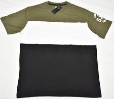 $36 NWT Mens Sean John T-Shirt Colorblock Tee Olive Black White Urban Sz XL N716